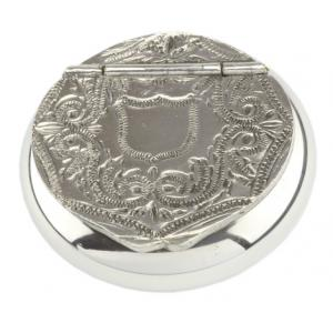 Wilson of Sharrows Pewter Snuff Box - Patterned Lid