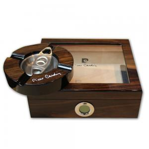 Pierre Cardin Lyon – Desk Top Cigar Humidor Set – 20 cigars capacity