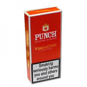 Punch Coronations Tubed Cigar - Pack of 3