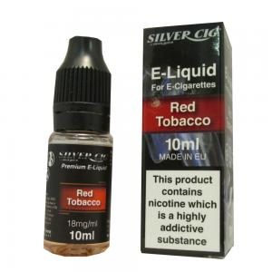 Silver Cig Red Tobacco Vape E- Liquid 10ml 18mg