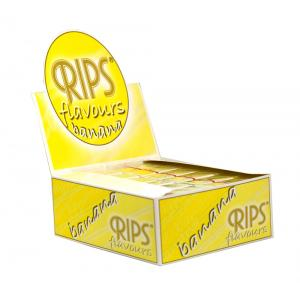 Rips Banana Slim Width Rolling Papers 24 packs