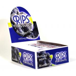 Rips Blueberry Slim Width Rolling Papers 24 packs
