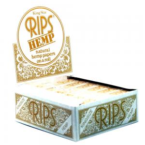 Rips Hemp Kingsize Size Rolling Papers 24 packs