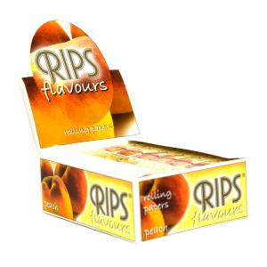 Rips Peach Slim Width Rolling Papers 24 packs