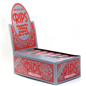 Rips Red Regular Size Rolling Papers 24 packs