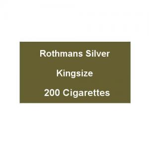 Rothmans Silver Kingsize - 10 Packs of 20 Cigarettes (200)