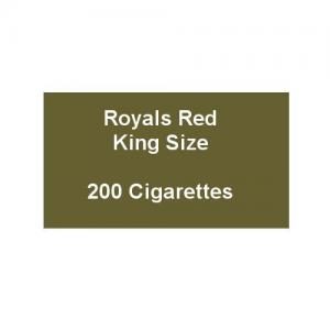 Royals Red King Size Cigarettes - 10 packs of 20 cigarettes (200)