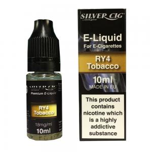 Silver Cig RY4 Tobacco Vape E- Liquid 10ml 18mg