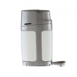 Xikar ELX Twin Jet Lighter with Punch Cutter - Pearl White