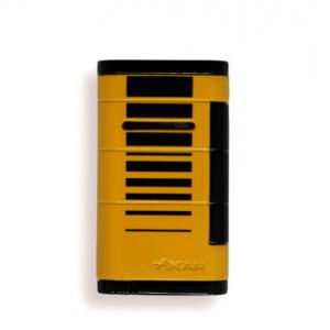 Xikar Allume Single Jet Lighter - Yellow with Black Stripes