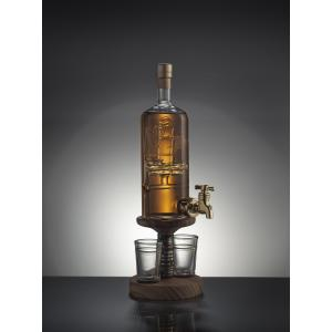 Ship In A Bottle Whisky Decanter With Tap & 2 Whisky Glasses (Stylish Whisky) 40