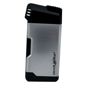 Silver Match Pipe Lighter with Pipe Tool - Silver & Black
