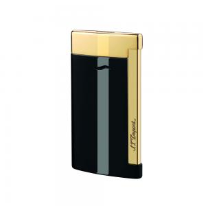 ST Dupont Slim 7 – Flat Flame Torch Lighter - Black and Gold