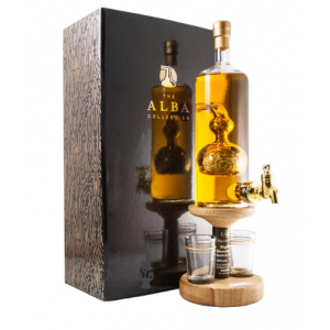 Christmas Gift - Barley Tap and Two Glasses - 350ml (Stylish Whisky) 40%