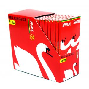 Swan King Size Red Slim Rolling Papers 50 Packs