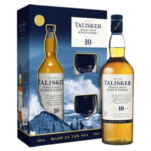 Talisker 10 Year Old 70cl Bottle + Glass Pack