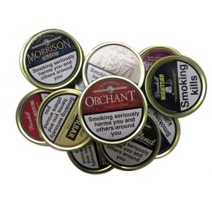 Empty Pipe Tobacco Tins - Round