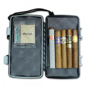 Mixed Cigar Selection and Xikar Travel Case Sampler - 5 Cigars