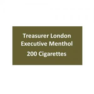 Treasurer London - Executive Menthol - 10 packs of 20 cigarettes (200)