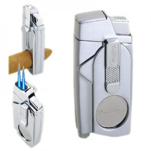 Vector Xcaliber Dual Torch Lighter - Chrome