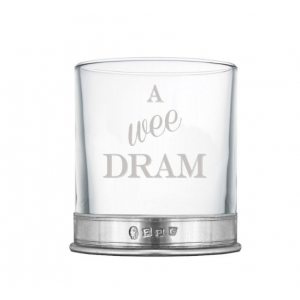 A Wee Dram Whisky Glass Single Tumbler