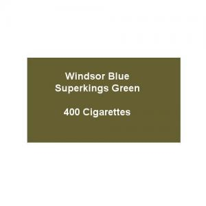 Windsor Blue Superkings Green - 20 Packs of 20 Cigarettes (400)
