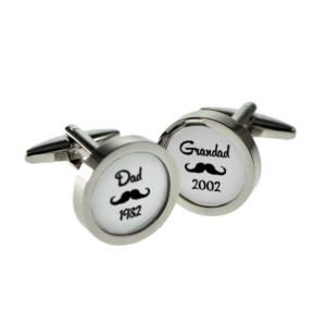 Dad & Grandad Personalised Cufflinks