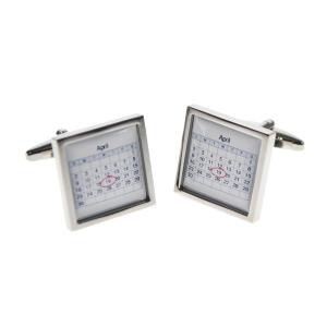 Calender Date Personalised Cufflinks