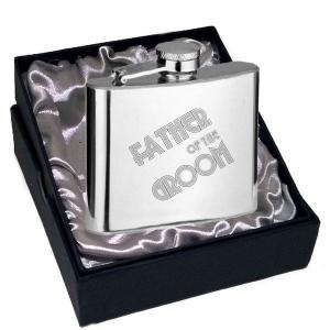 6oz Father of the Groom Art Deco Design Personalised Hip Flask