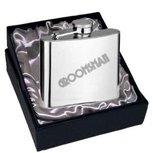 6oz Groomsman Art Deco Design Personalised Hip Flask