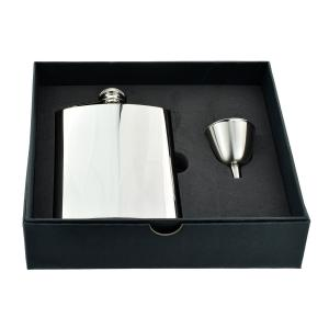 8oz Regular Size Stainless Steel Hip Flask with Funnel