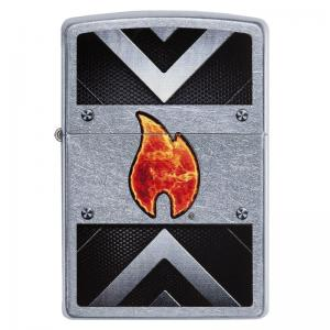Zippo - Street Chrome Industrial Flame - Windproof Lighter