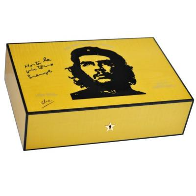 Elie Bleu Che Collection Sycamore Yellow Humidor - 110 Cigar Capacity