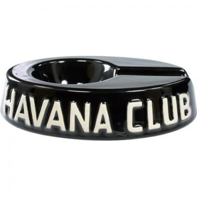 Havana Club Collection Ashtray - Egoista Single Cigar Ashtray - Ebony Black