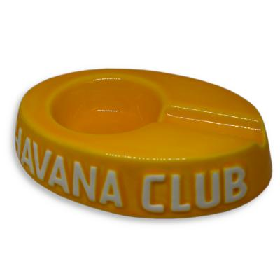 Havana Club Collection Ashtray - Egoista Single Cigar Ashtray - Corn Yellow
