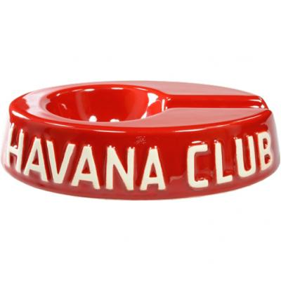 Havana Club Collection Ashtray - Egoista Single Cigar Ashtray - Vermillon Red