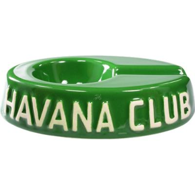 Havana Club Ashtray - Egoista Single Cigar Ashtray - Bottle Green