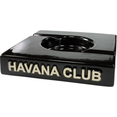 Havana Club Collection Ashtray - El Duplo Double Cigar Ashtray - Ebony Black