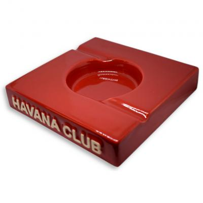 Havana Club Collection Ashtray - El Duplo Double Cigar Ashtray - Vermillon Red
