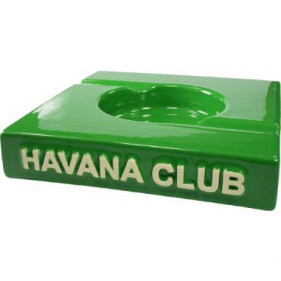 Havana Club Ashtray - El Duplo Double Cigar Ashtray - Bottle Green