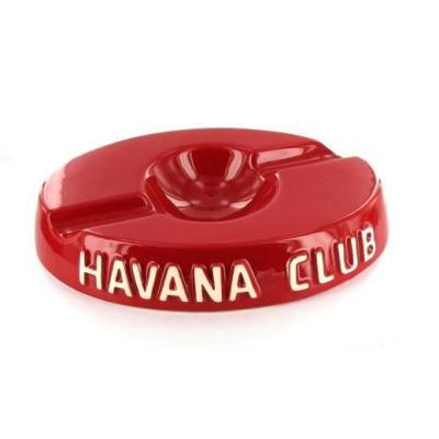 Havana Club Collection Ashtray - El Socio Double Cigar Ashtray - Vermillon Red