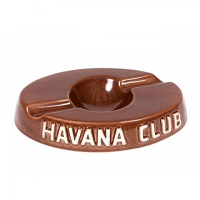 Havana Club Collection Ashtray - El Socio Double Cigar Ashtray - Brown