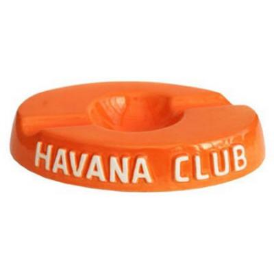 Havana Club Collection Ashtray - El Socio Double Cigar Ashtray - Mandarine Orange