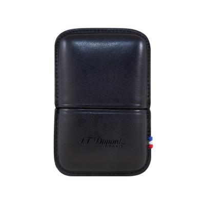 ST Dupont Ligne 2 Leather Lighter Case - Black