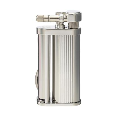 Tsubota Pearl - Eddie Pipe Lighter with Tool - Silver Stripe