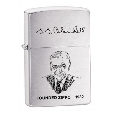 Zippo - Founders Lighter Brushed Chrome - Windproof Lighter