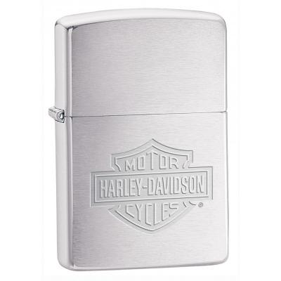 Zippo - Harley Davidson Logo Brushed Chrome - Windproof Lighter