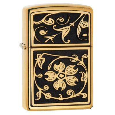 Zippo - Gold Floral Flourish - Windproof Lighter