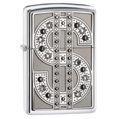 Zippo - Swarovski Crystals Bling Emblem - Windproof Lighter