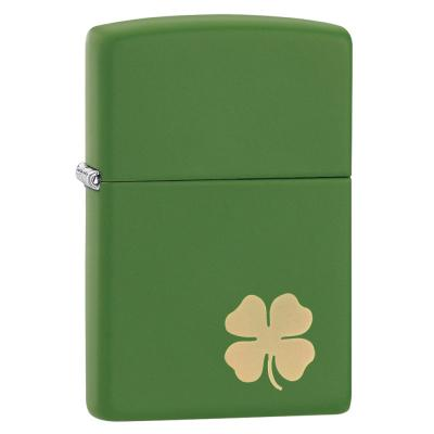 Zippo - Green Matte Clover Shamrock - Windproof Lighter